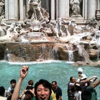 ローマ観光 トレビの泉