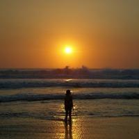 バリ島 クタビーチの夕陽