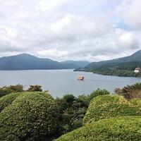 県立恩賜箱根公園 芦ノ湖の景色は良かったけどやっぱり曇りだったので富士山は...