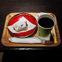 Cafe de Kampoh 瑞月院の塩豆大福と黒姫珈琲で休憩...