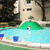 神田児童公園 SKYY BLUE bondance chiyodaku やぐら設営工事 提灯