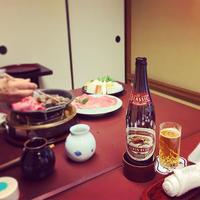 今半 人形町本店 lagerbeer imahan 迎春すき焼き 味感 sukiyaki 苦味
